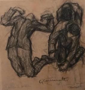 3)Uno dei disegni di Cominetti esposti a Serrapetrona
